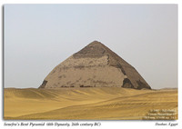 The Bent and Red Pyramids in Dashur, Egypt